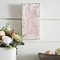 Pink Easter Bunny Canvas Art Print