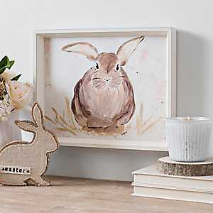 Brown Bunny Portrait Framed Art