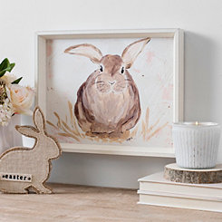 Brown Bunny Portrait Framed Art