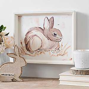 Brown Bunny Profile Framed Art