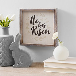 He Has Risen Framed Wood Block Art Print