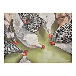 Farm Flock Canvas Art Print