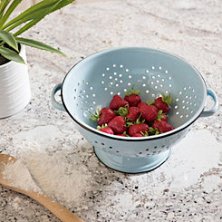 Light Blue Metal Homestead Colander