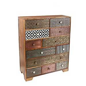 Tanaya Mango Wood 12-Drawer Sideboard