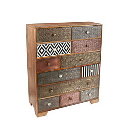 Tanaya Mango Wood 12-Drawer Sideboard