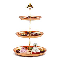 Hammered Copper 3-Tier Serving Stand