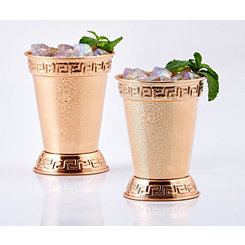 Copper Mint Julep Cups, Set of 2
