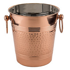 Hammered Copper Fez Champagne Bucket