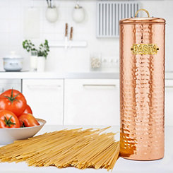 Hammered Copper Pasta Canister