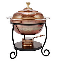 Hammered Antique Copper Chafing Dish