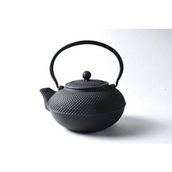 Black Cast Iron Saga Teapot