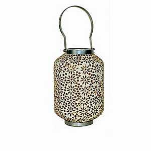 Amber Mosaic Lantern