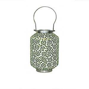 Green Mosaic Lantern