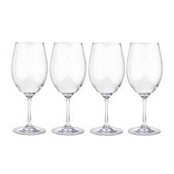 Clear Plastic Cabernet Wine Glasses, Set of 4