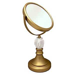 Gold Vanity Mirror with Diamond Base