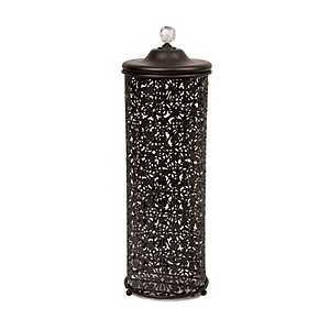 Bronze Lace Toilet Paper Holder