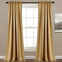 Taupe Julia Stripe Curtain Panel Set, 84 in.