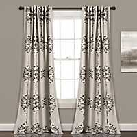 Teal Medallion Curtain Panel Set