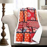 Red Meridian Sherpa Blanket