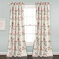 Gray Pixie Fox Curtain Panel Set, 84 in.