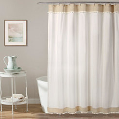 Adelyn Pom-Pom Shower Curtain