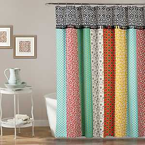 Boho Patchwork Shower Curtain