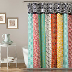 Boho Patchwork Shower Curtain