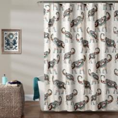 Hati Elephants Shower Curtain