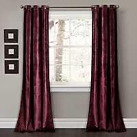 Burgundy Prima Velvet Curtain Panel Set, 84 in.