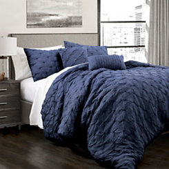 Navy Ravello 5-pc. Full/Queen Comforter Set