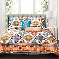 Turquoise Persis 5-pc. King Quilt Set