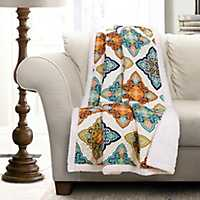 Turquoise Persis Sherpa Blanket