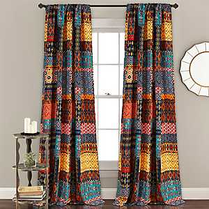 Multicolor Misha Curtain Panel Set, 84 in.