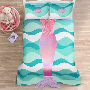 Pink and Purple Mermaid 2-pc. Twin Comforter Set