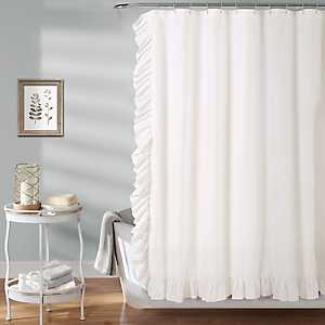 White Reyna Shower Curtain