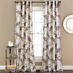 Hati Elephants Curtain Panel Set, 84 in.