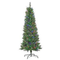 6.5 ft. Pre-Lit Fiber Optic Christmas Tree