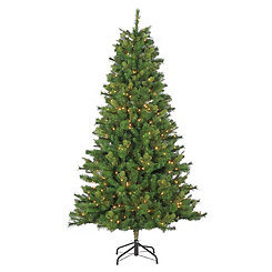 7.5 ft. Pre-Lit Wellington Pine Christmas Tree