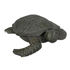 Gray and Green Sea Turtle Outdoor Statue