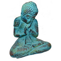 Turquoise Cement Outdoor Buddha Statue