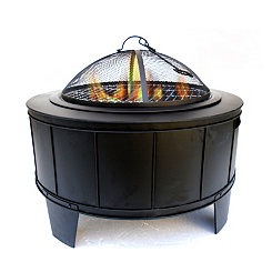 Lance Black Metal Fire Pit