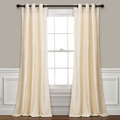 Ivory Prima Velvet Curtain Panel Set, 84 in.