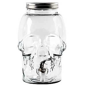 Glass Skull Beverage Dispenser