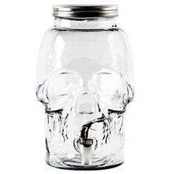 Glass Skull Beverage Dispenser