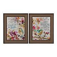 Song of Praise Sparrow Framed Art Prints, Set of 2