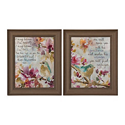 Song of Praise Sparrow Framed Art Prints, Set of 2