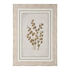 White Country Botanicals Framed Art Print