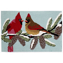Snow Birds Indoor/Outdoor Accent Rug