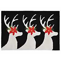 Festive Deer Indoor/Outdoor Accent Rug