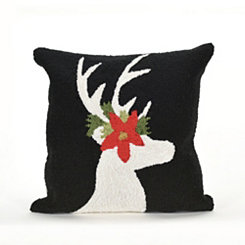 Festive Deer Indoor/Outdoor Pillow